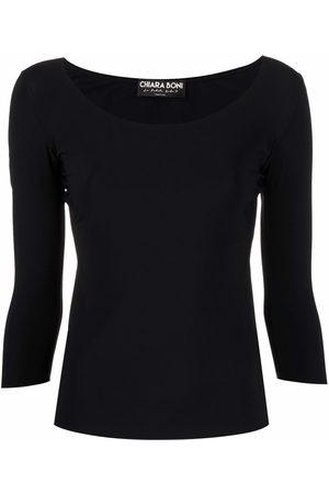 CHIARA BONI Women Long Sleeve - Scoop-neck long-sleeved T-shirt