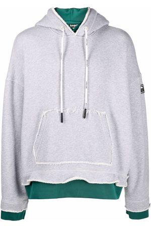 Palm Angels Men Hoodies - PXP patch layered hoodie - Grey