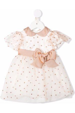 COLORICHIARI Baby Printed Dresses - Polka-dot print dress - Neutrals
