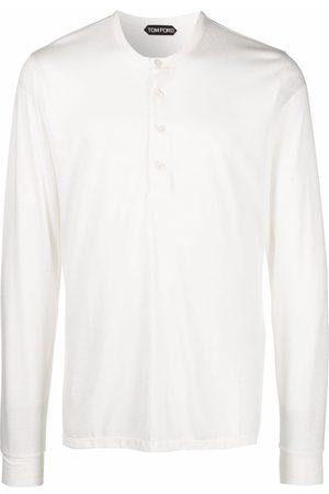 Tom Ford Men Long Sleeve - Long-sleeve Henley T-shirt