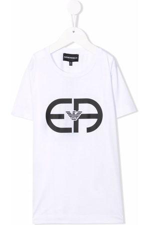 Emporio Armani Boys T-shirts - Logo-print T-shirt