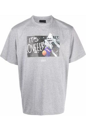 Throwback. Basketball print T-shirt - Grey