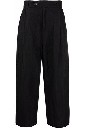 ZIGGY CHEN High-waisted straight-leg trousers
