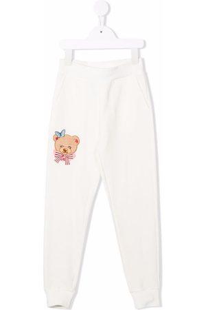 MONNALISA Teddy-print track pants - Neutrals