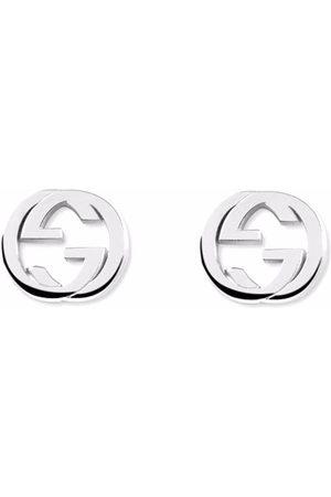 Gucci Interlocking G logo earrings - Metallic