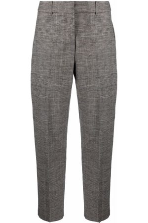 SEVENTY BY SERGIO TEGON Women Formal Pants - Pressed-crease cropped tailored trousers