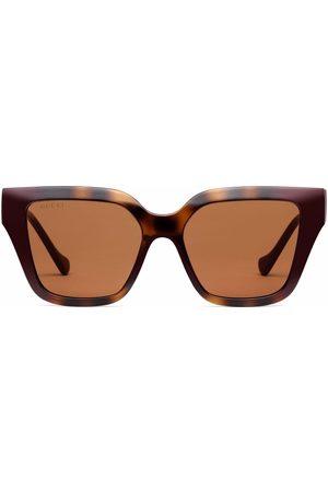 Gucci Logo-plaque square sunglasses