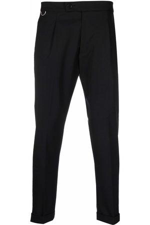 LOW BRAND Men Formal Pants - Pressed-crease virgin wool-blend tailored trousers