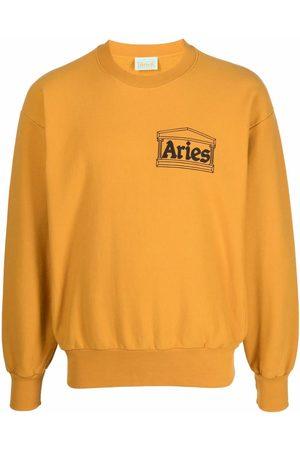 ARIES Logo-print cotton sweatshirt