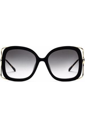 Gucci Women Square - Horsebit square-frame sunglasses