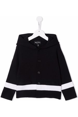 Emporio Armani Hooded stripe cardigan