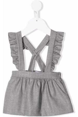 Il gufo Baby Skirts - Ruffled straps suspender skirt - Grey