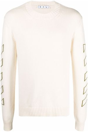 OFF-WHITE Arrows long-sleeve knitted jumper - Neutrals