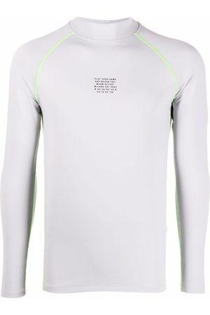 Msgm Men T-shirts - Play Your Game T-shirt - Grey