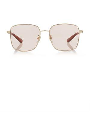 Gucci Women Square - Women's Square-Frame Metal Sunglasses - - Moda Operandi