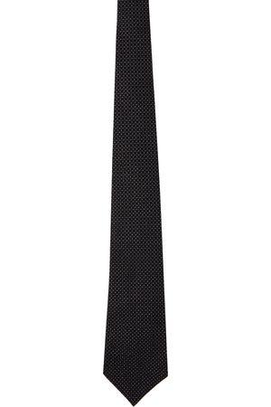 Comme des Garçons Men Neckties - Black Silk Pattern Tie