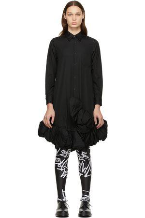 Comme des Garçons Black Cotton Broad Ruffle Dress