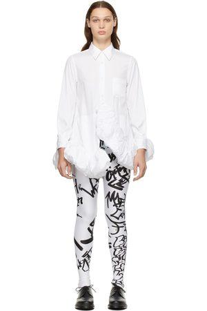 Comme des Garçons Women Dresses - White Cotton Ruffle Dress