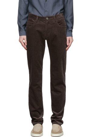 Armani Men Pants - Brown Corduroy Trousers