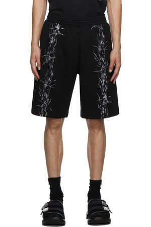 Givenchy Men Shorts - Black Barbed Wire Shorts