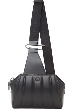 Givenchy Men Luggage - Black Quilted Antigona Crossbody Bag
