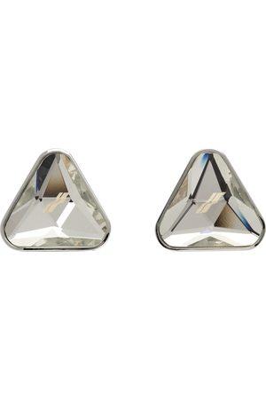 We11 Done Men Earrings - Silver Triangle Shape Cut Earrings