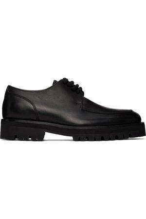DRIES VAN NOTEN Women Formal Shoes - Black Leather Lace-up Oxfords
