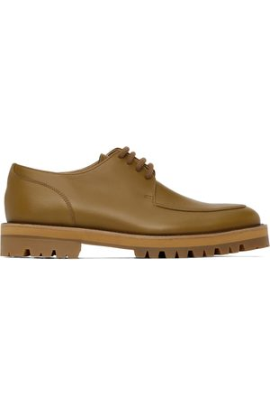 DRIES VAN NOTEN Women Formal Shoes - Yellow Leather Lace-Up Oxfords