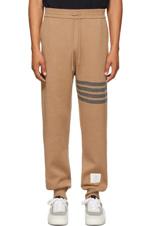 Thom Browne Tan Double-Faced Cashmere 4-Bar Lounge Pants