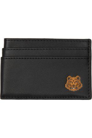 Kenzo Men Wallets - Black Tiger Crest Card Holder