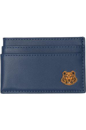 Kenzo Men Wallets - Blue Tiger Crest Card Holder
