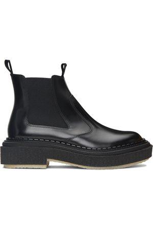ADIEU PARIS Men Chelsea Boots - Black Polished Type 155 Chelsea Boots