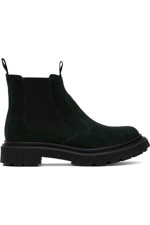 ADIEU PARIS Men Chelsea Boots - Green Suede Type 156 Chelsea Boots