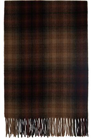 Etudes Women Scarves - Burgundy Wool Check Magnolia Scarf