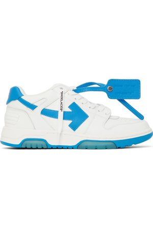 OFF-WHITE Men Sneakers - White & Blue 'Out Of Office' Sneakers