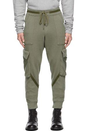 GREG LAUREN Men Cargo Pants - Khaki Basic Cargo Pants