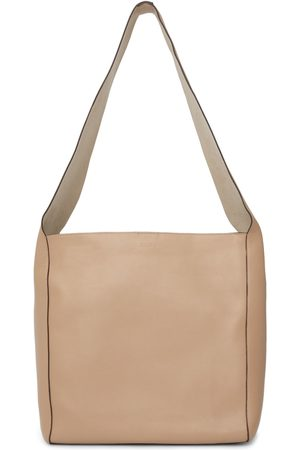 Joseph Women Tote Bags - Beige Leather Slouch XL Tote