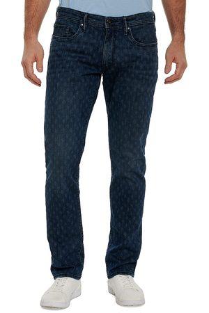 Robert Graham Men Denim - Olden Patterned Five-Pocket Jeans