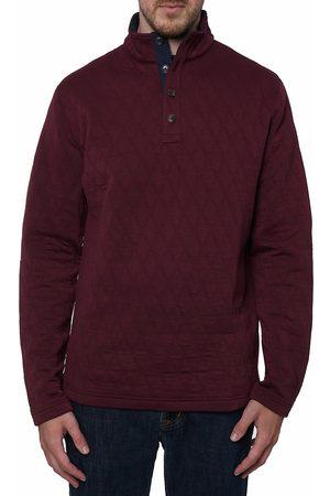 Robert Graham Men Denim - Caro Quilted Mockneck Sweater