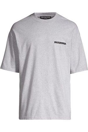 Balenciaga Men Sweatshirts - Logo Crewneck T-Shirt
