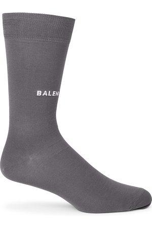 Balenciaga Men Socks - Tight Logo Crew Socks