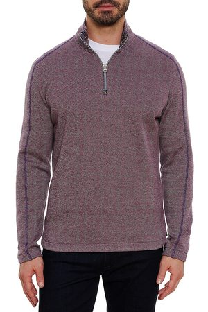 Robert Graham Men Denim - Greensboro Quarter-Zip Sweater