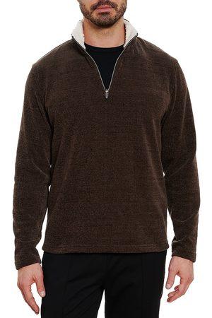 Robert Graham Men Denim - Faux Shearling Collar Sweater