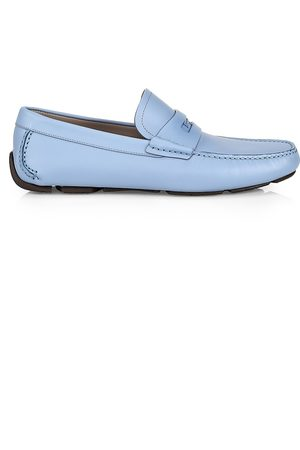 Salvatore Ferragamo Men Loafers - Newton Leather Driver Loafers