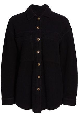 MONROW Women Fleece Jackets - Teddy Shirt Jacket