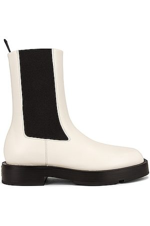 Givenchy Squared Chelsea Ankle Boots in Ivory