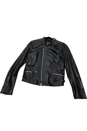 G-Star Women Leather Jackets - Leather biker jacket
