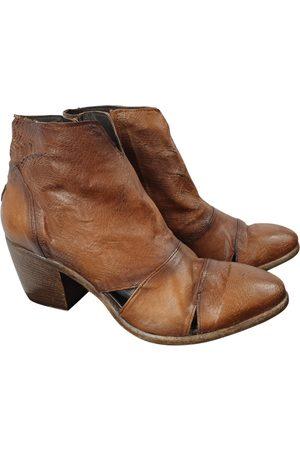 AUTRE MARQUE Leather biker boots
