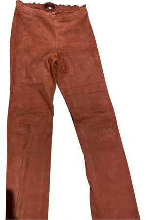 Stouls Leather straight pants