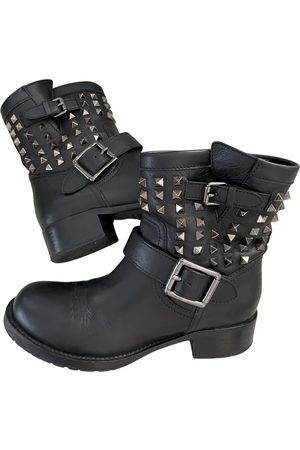 VALENTINO GARAVANI Women Biker Boots - Leather biker boots